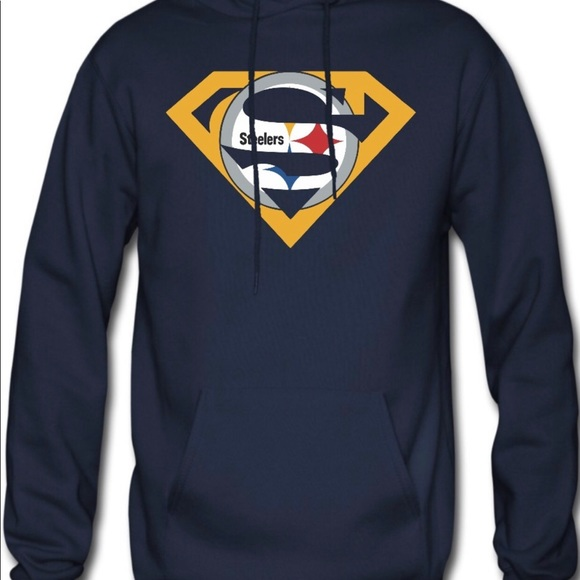 a4976cdcb Pittsburgh Steelers Superman pullover hoodie